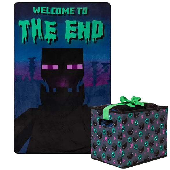 View 1 of Minecraft Enderman Blanket with Storage Box photo.