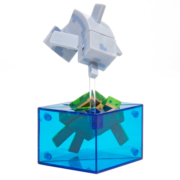 View 2 of Minecraft Dolphin and Turtle Adventure Figure, Series 4 photo.