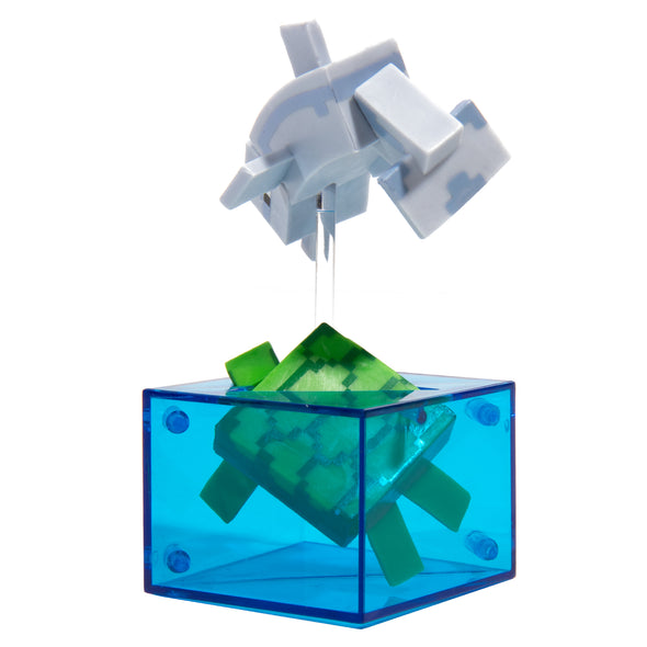 View 3 of Minecraft Dolphin and Turtle Adventure Figure, Series 4 photo.