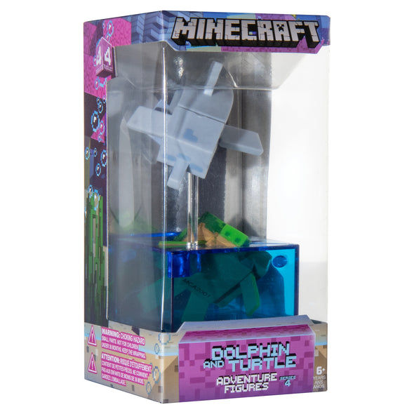 View 5 of Minecraft Dolphin and Turtle Adventure Figure, Series 4 photo.