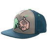 View 1 of Minecraft Earth Creeper and Pig Head Youth Snap Back Hat photo.
