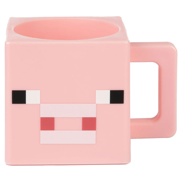 View 1 of Minecraft Pig Face Plastic Mug photo.