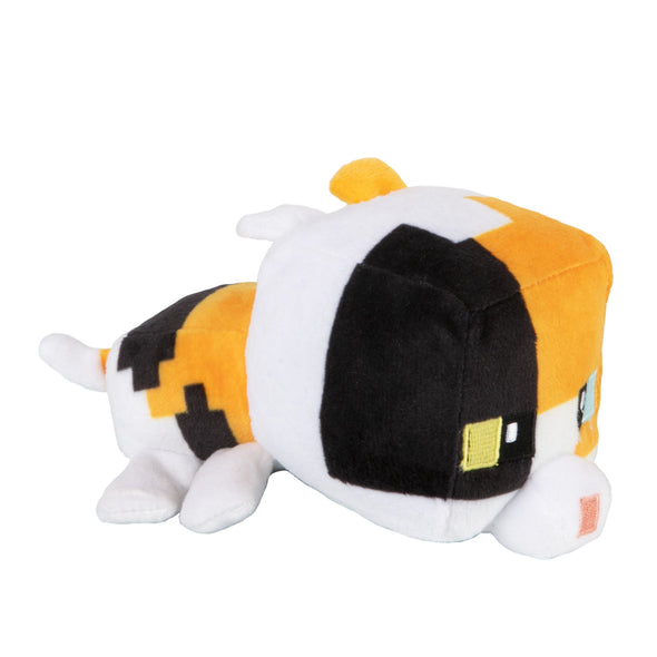 View 1 of Minecraft Mini Crafter Calico Cat Plush photo.