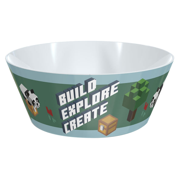 View 1 of Minecraft Build Explore Create Plastic Bowl photo.