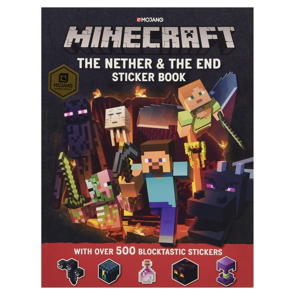 View 1 of Minecraft Official The Nether and The End Sticker Book photo.
