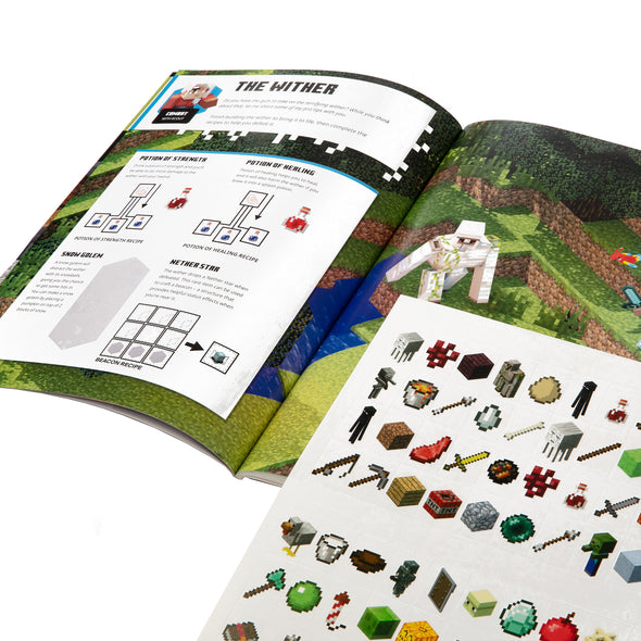View 2 of Minecraft Official The Nether and The End Sticker Book photo.