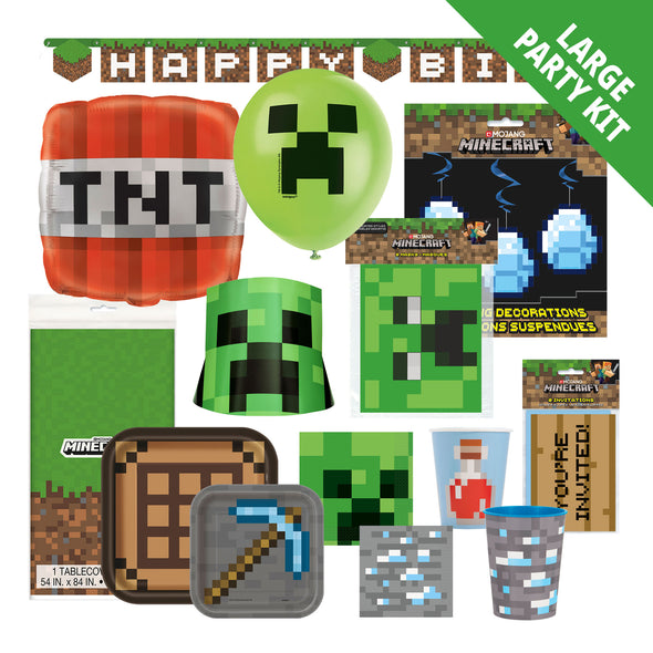 View 1 of Minecraft Adventure Large Party Kit photo.