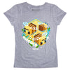 View 1 of Minecraft Bee Garden Girls Tee photo.
