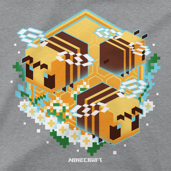 View 2 of Minecraft Bee Garden Girls Tee photo.