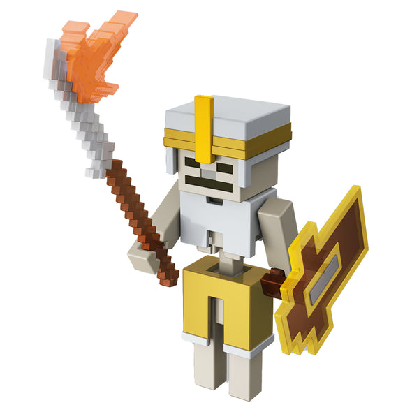 View 1 of Minecraft Dungeons Skeleton Vanguard Action Figure photo.