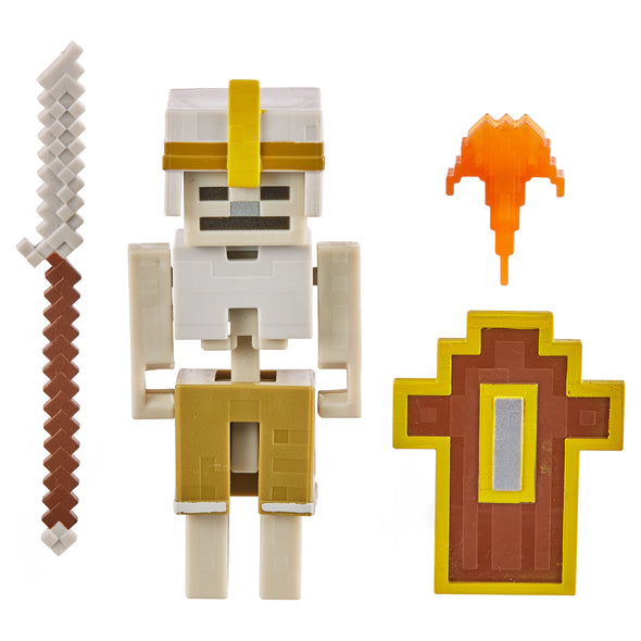 View 2 of Minecraft Dungeons Skeleton Vanguard Action Figure photo.