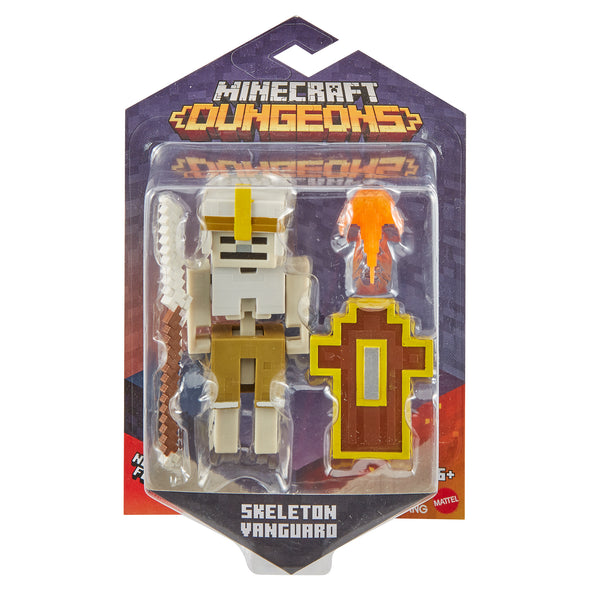 View 4 of Minecraft Dungeons Skeleton Vanguard Action Figure photo.