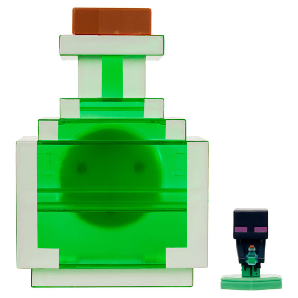 View 1 of Minecraft Earth Mini Figure Carry-Along Potion Case, Green photo.