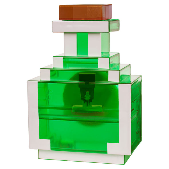 View 2 of Minecraft Earth Mini Figure Carry-Along Potion Case, Green photo.