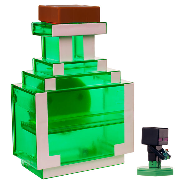 View 3 of Minecraft Earth Mini Figure Carry-Along Potion Case, Green photo.