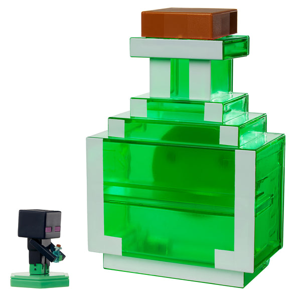 View 4 of Minecraft Earth Mini Figure Carry-Along Potion Case, Green photo.