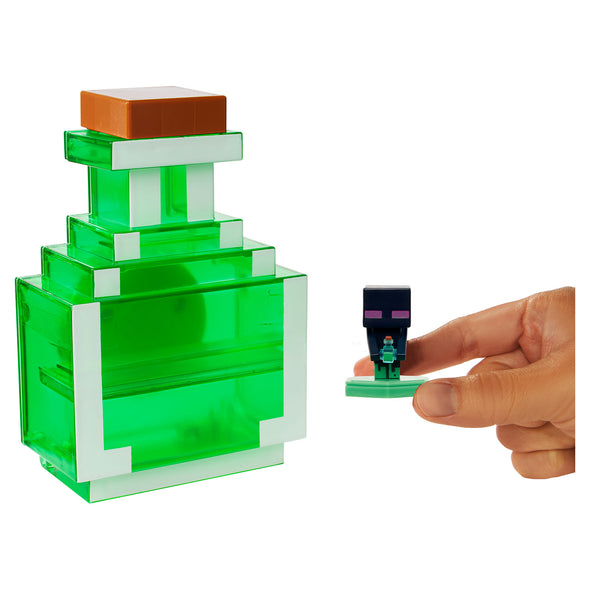 View 5 of Minecraft Earth Mini Figure Carry-Along Potion Case, Green photo.