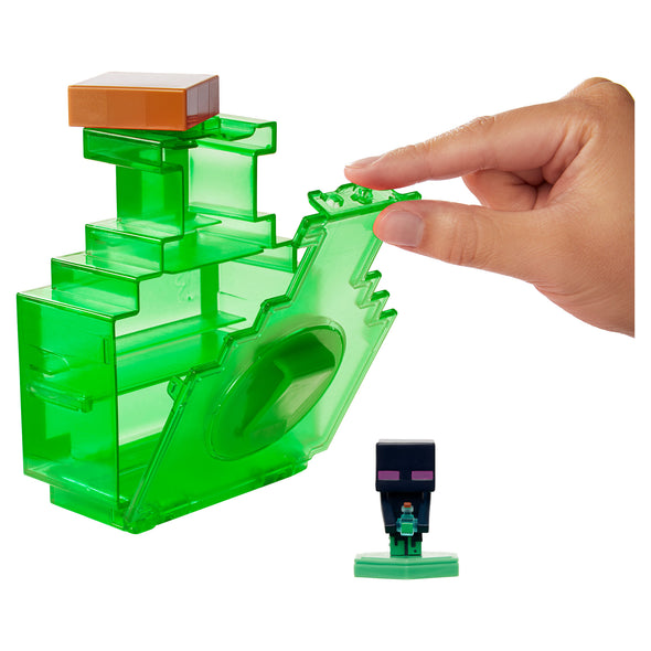 View 6 of Minecraft Earth Mini Figure Carry-Along Potion Case, Green photo.