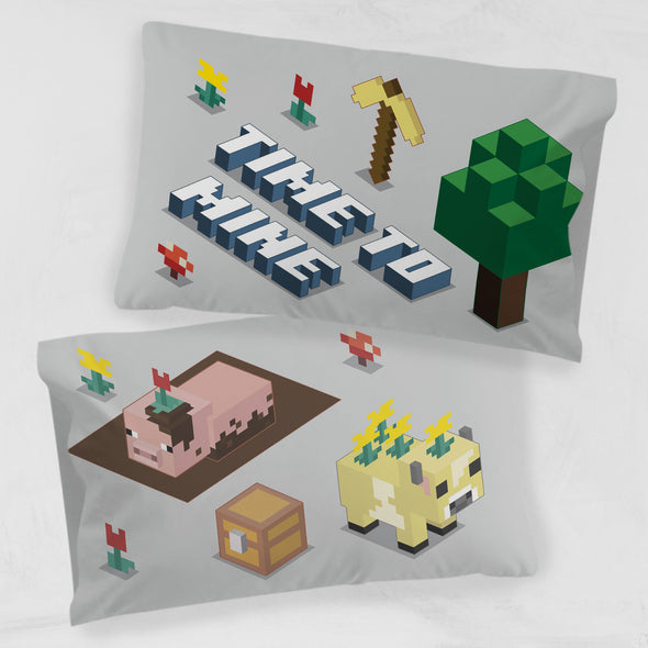 View 1 of Minecraft Earth Time Pillowcase photo.
