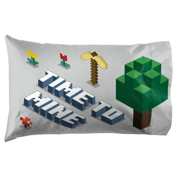 View 2 of Minecraft Earth Time Pillowcase photo.