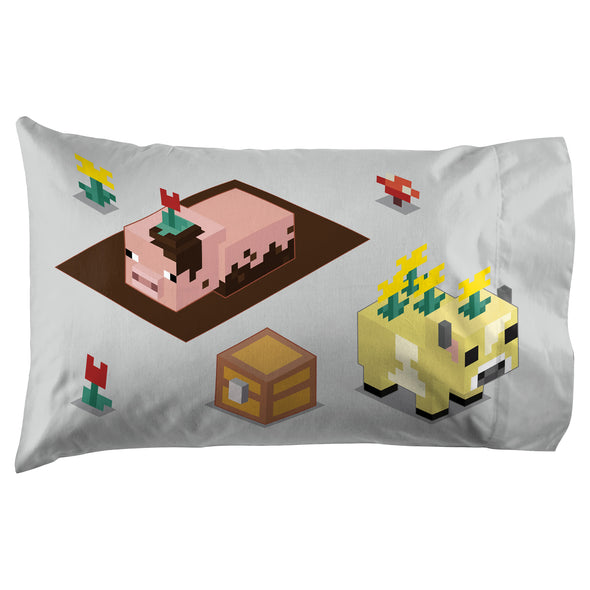 View 3 of Minecraft Earth Time Pillowcase photo.