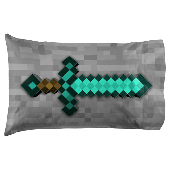 View 2 of Minecraft Diamond Life Pillowcase photo.