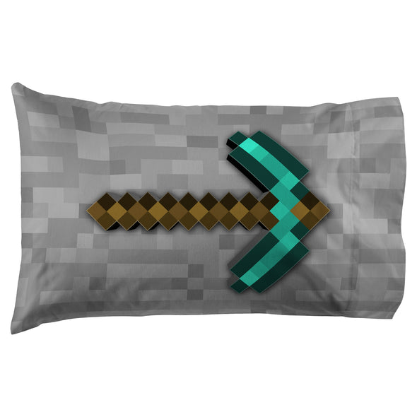 View 3 of Minecraft Diamond Life Pillowcase photo.