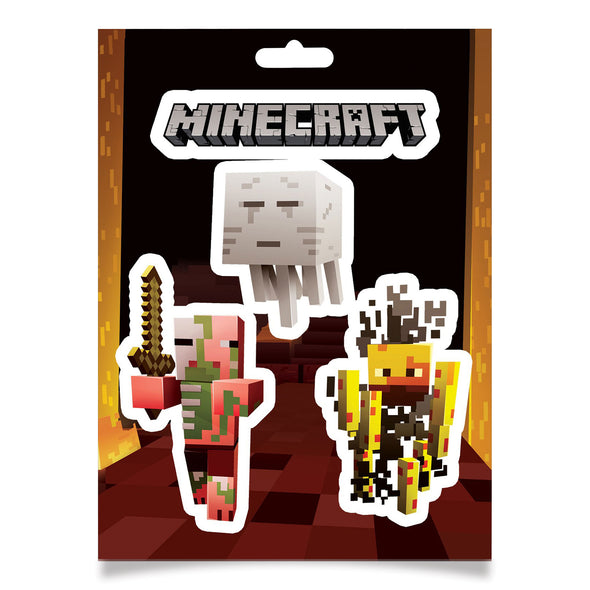 View 1 of Minecraft Mobs Nether Sticker Pack photo.