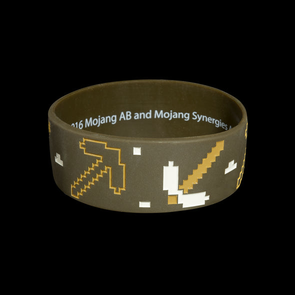 View 1 of Minecraft Miner Rubber Bracelet photo.