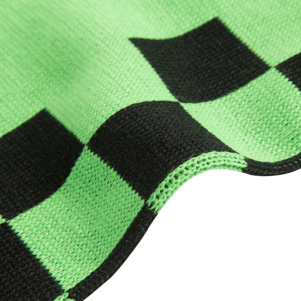 View 3 of Minecraft Creeper Checkered Scarf photo.