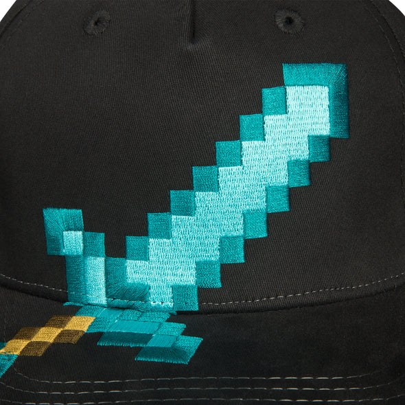 View 2 of Minecraft Diamond Sword Youth Stretchfit Hat photo.