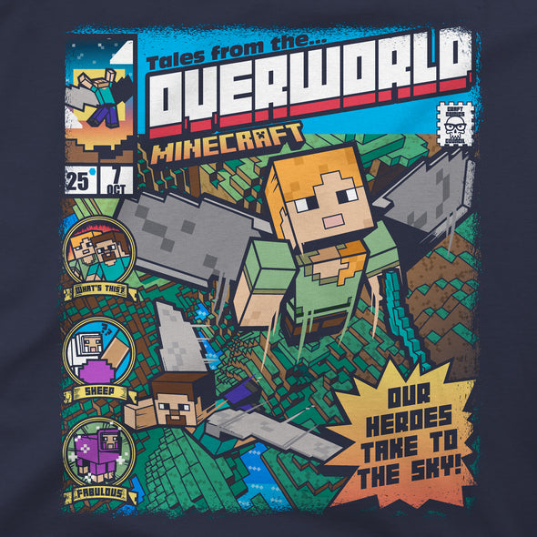 View 2 of Minecraft Tales from the Overworld Premium Tee photo.