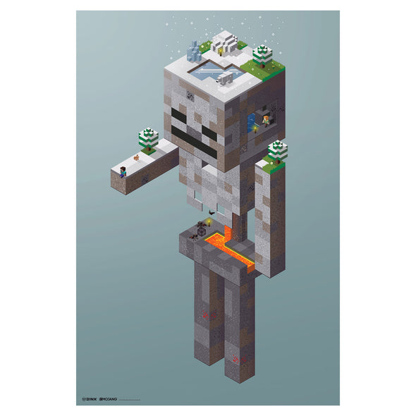 View 1 of Minecraft Skeleton Tundra Wall Poster photo.