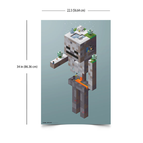 View 3 of Minecraft Skeleton Tundra Wall Poster photo.