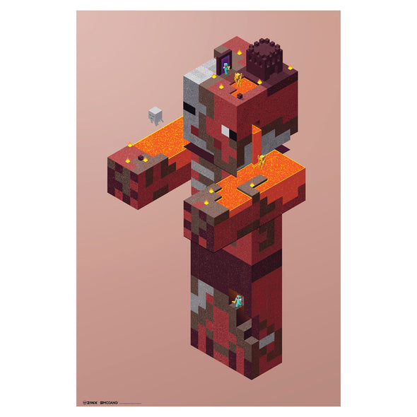 View 1 of Minecraft Zombie Pigman Nether Wall Poster photo.
