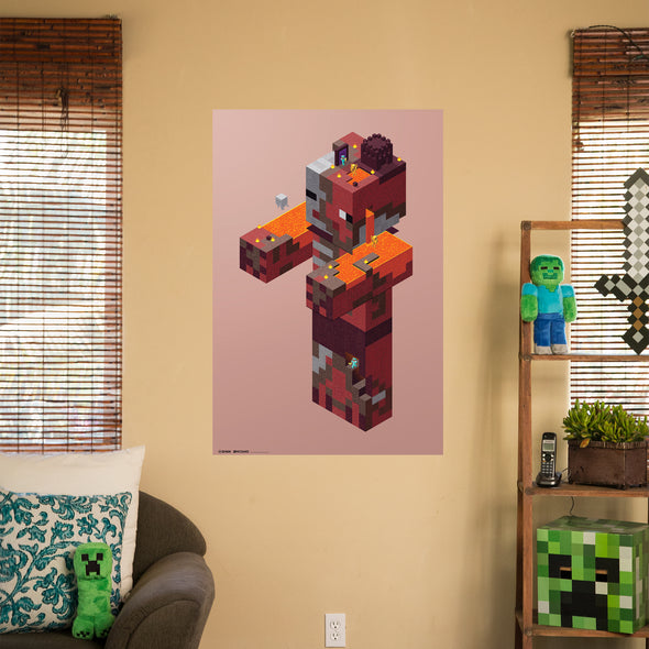 View 2 of Minecraft Zombie Pigman Nether Wall Poster photo.