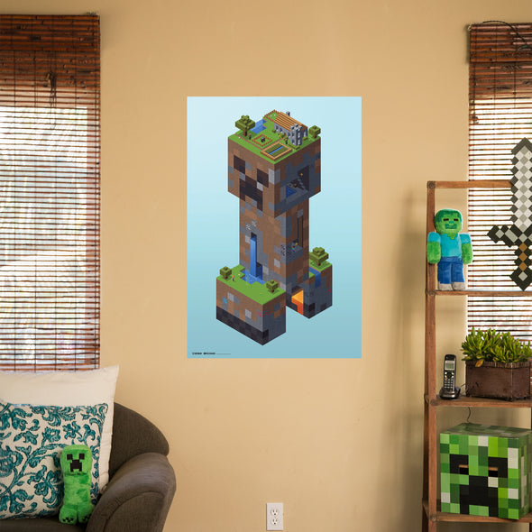 View 2 of Minecraft Creeper Village Wall Poster photo.