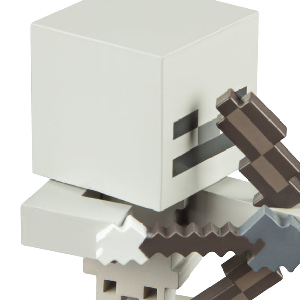 View 2 of Minecraft Skeleton with Bow Adventure Figures, Series 1 photo.