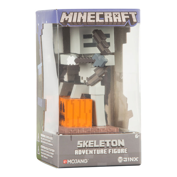 View 3 of Minecraft Skeleton with Bow Adventure Figures, Series 1 photo.