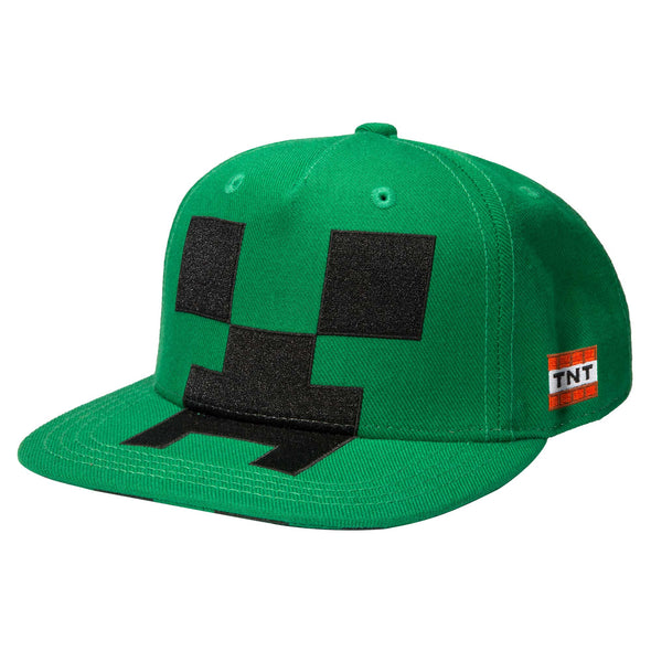 View 1 of Minecraft Creeper Mob Hat Applique photo.