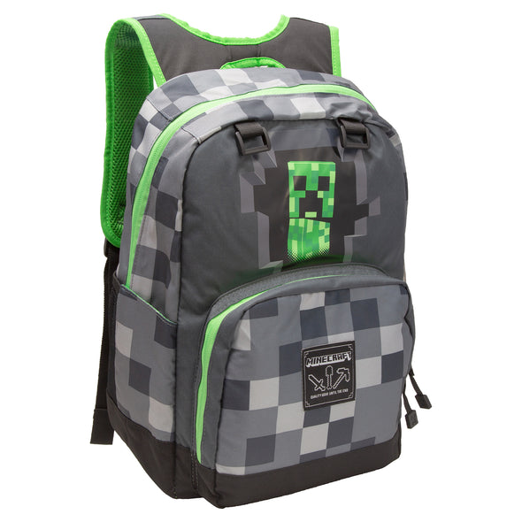 View 1 of Minecraft Creepy Creeper Single Backpack photo.