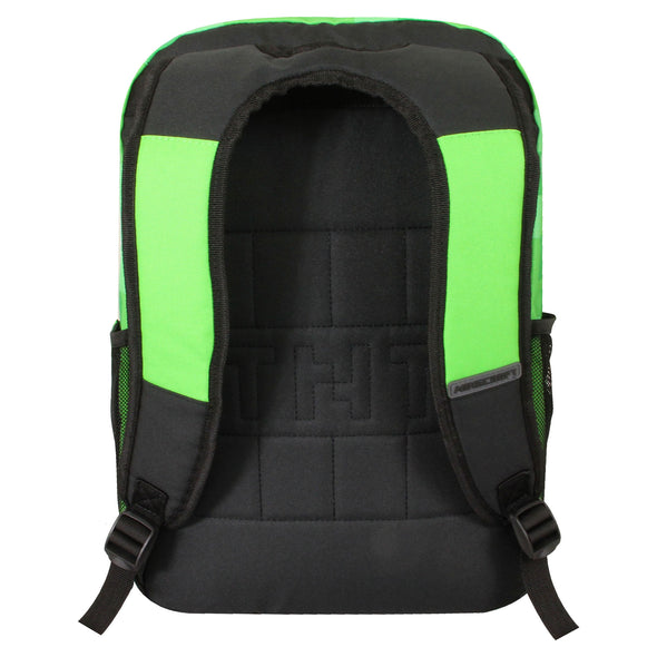 View 3 of Minecraft Creepy Creeper Single Backpack photo.