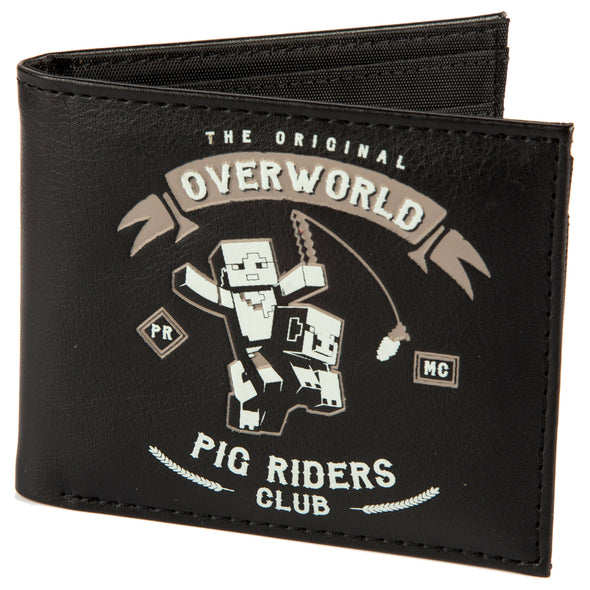 View 1 of Minecraft Pig Riders Bi fold Graphic Wallet photo.