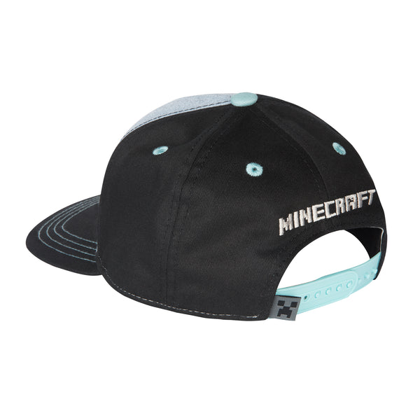 View 3 of Minecraft Pig Riders Youth Snap Back Hat photo.