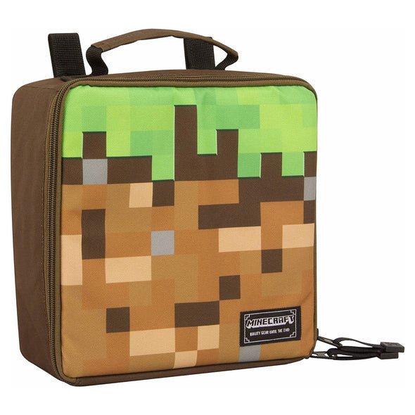 View 1 of Minecraft Dirt Block Lunch Box photo.