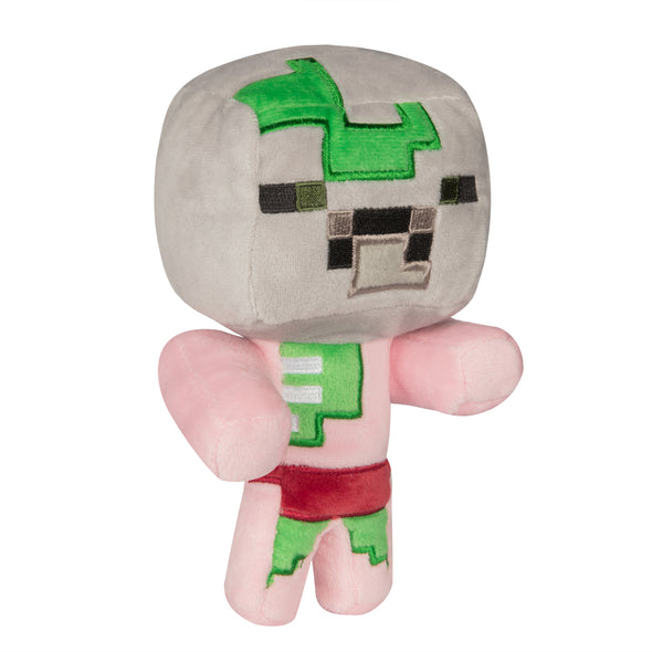 View 1 of Minecraft Happy Explorer Baby Zombie Pigman Plush photo.