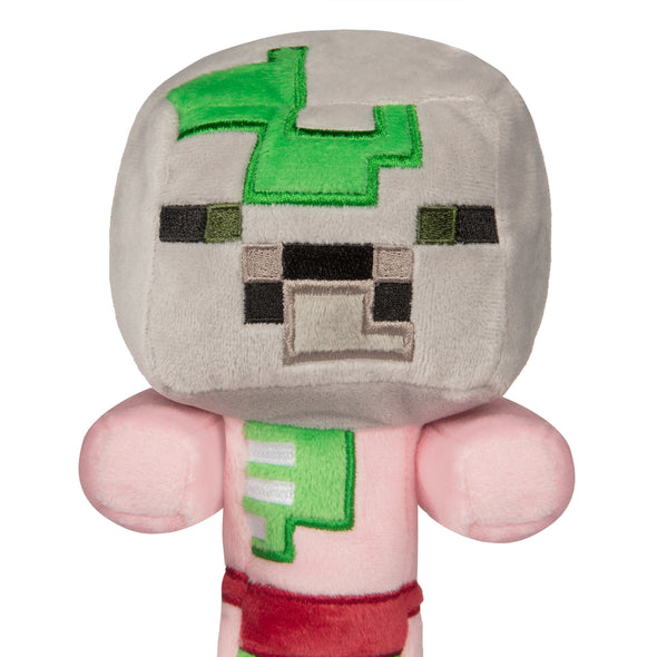 View 2 of Minecraft Happy Explorer Baby Zombie Pigman Plush photo.
