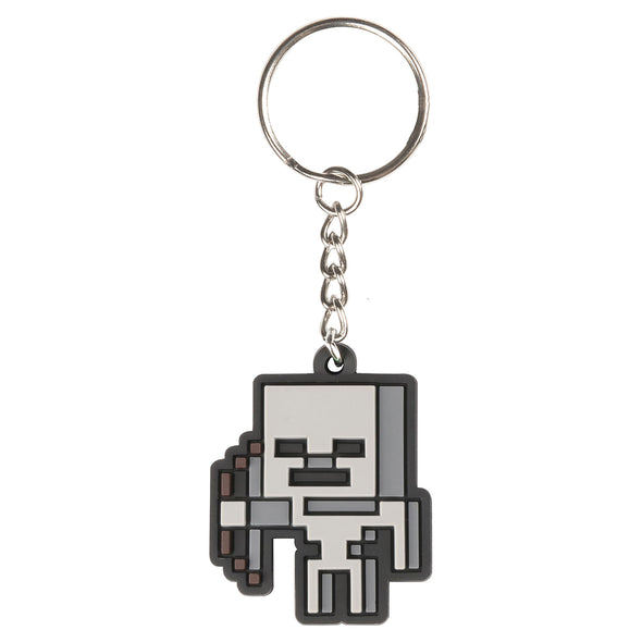 View 1 of Minecraft Skeleton Sprite Keychain photo.