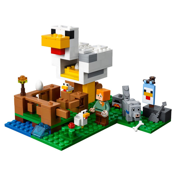 View 5 of Minecraft The Chicken Coop LEGO Building Set photo.