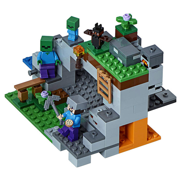 View 2 of Minecraft The Zombie Cave LEGO Building Set photo.